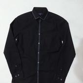 Стильная новая черная рубашка George приталенная