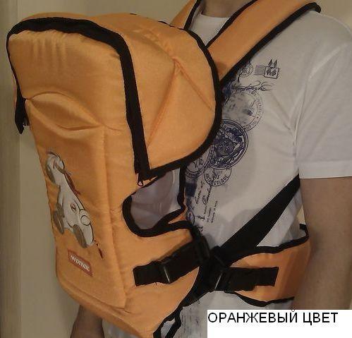 Кенгуру-переноска детей rainbow 15 excluzive оранжевый  Womar ( оригинал ) фото №1