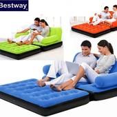 Надувной раскладной диван-трансформер Bestway 67356 три цвета