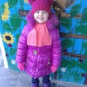 Зимнее удлиненная куртка пальто р.104 и 110
