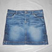 S-M, поб 46-48, юбка джинсовая с имитацией потертостей