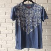 Мужская футболка синяя S M