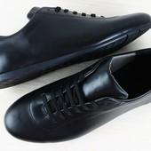 туфли мужские черные кожаные на шнурках