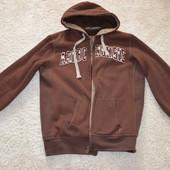 теплая куртка abercrombie & fitch на меху-размер L