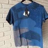 Мужская футболка светло синяя L