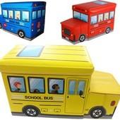 Пуф детский для игрушек Автобус