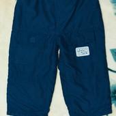 Штаны, брюки р. 18-23 мес., темно-синие, в отличном состоянии