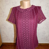 Oasis блузка ажурная стильная модная рМ