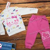 Нарядный костюм на девочку Hello Kitty, 74 86 размер, штаны кофта, 100% хлопок, Турция
