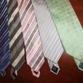 брендовые галстуки M&S 100% шелк