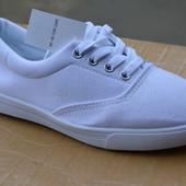 Женские кеды мокасины низкие тканевые ванс vans белые