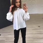 Модная блузка - супер новинка Белый и черный цвет