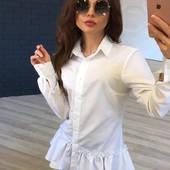 Белая блузка -туника