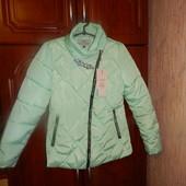 Женская куртка брошка цвет мята.В наличии все размеры