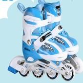 Детские ролики №806 (S) pu 4 led Babyhit Китай синий 12115436
