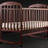 Кроватка «Наталка» ольха темная