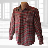 Фланелевая рубашка в клетку р.L Wrangler