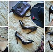 Кожаные лаковые туфли-лодочки Aldo,р-р 40-41