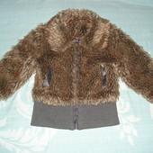 Демисезонная куртка-шубка для девочки 4 лет