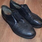 Кожаные туфли 40 р. 26.5 см, Унисекс