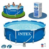 Каркасный бассейн Intex 28200 Metal Frame Pool (305х76)