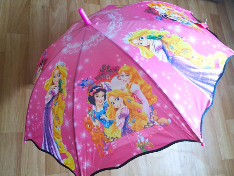 Яркий красивенный детский зонт зонтик трость Принцессы  Барби для девочки 3-8 лет фото №1