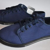 Мокасины мужские синие