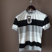 Мужская футболка полоска  xl
