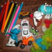 Набор Игрушек: машинки, конструктор, карандаши... Цена за всё