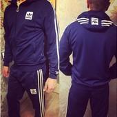 """Мужской Спортивный костюм """"Adidas"""" шеврон. Размеры:46,48,50,52 (2с"""