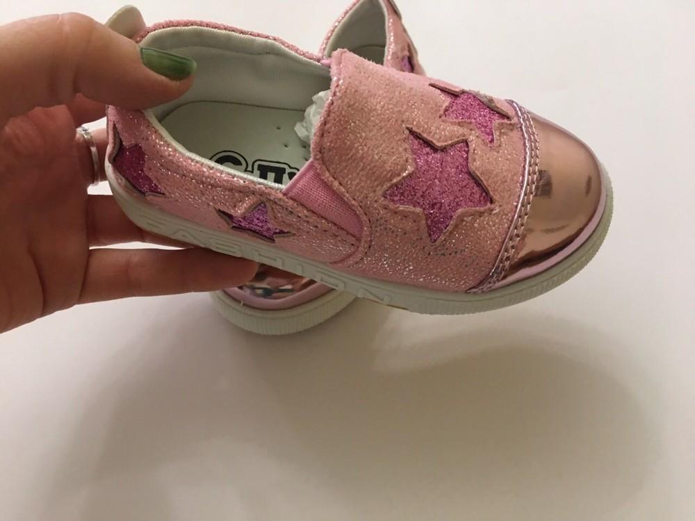 Слипоны, мокасины розовые звездочка фото №6