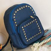 Рюкзак из джинса Синий (3