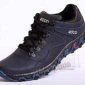 Кроссовки кожаные ECCO Track синие