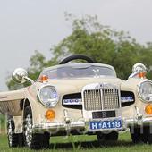 Детский электромобиль Rollce Royce 118, ретро бежевая