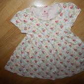 NEXT стильное трикотажное платье   на девочку 1,5-2 года