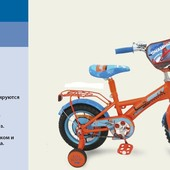 Детский велосипед 12д. 151223 Чемпион Самолёты, оранжевый
