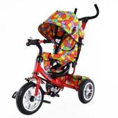 Велосипед трехколесный с надувными колесами Trike T-351 (расцветок много)