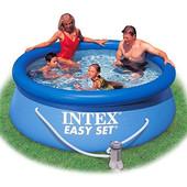 Бассейн семейный Intex Интекс 28112 244-76 см,с фильтр-насосом 220-240V ,2419л,в кор-ке,32-38-30см
