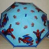 Детский новый зонт для мальчиков Человек-Паук Голубой - поливинил - спицы метал