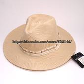 Шляпа панама летняя женская плетеная