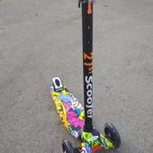 Самокат 21st scooter скутер от 4 до 12 лет