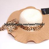 Шляпа летняя женская плетеная с лентой