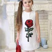 Нарядное детское платье Роза, оптовая цена.