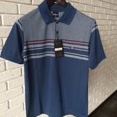 Мужская футболка синяя  M  XL xxl