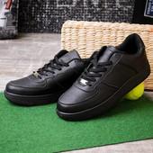 Мужские кроссовки черные 12718