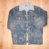 Куртка мужская джинсовая размер М (теплая, внутри иск мех)