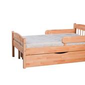 Детская раздвижная растущая кровать из бука »Скандинавия» - кровать «на вырост».