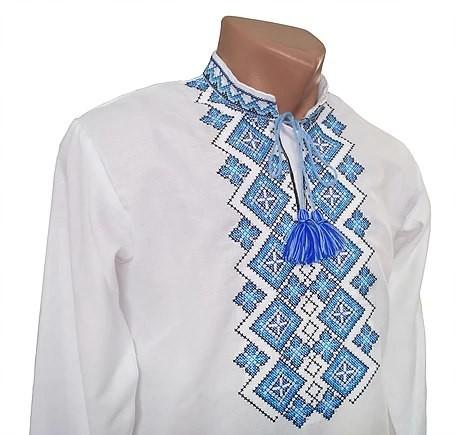 Сорочка чоловіча, рубашка мужская, орнамент святкова фото №1