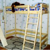 Кровать-чердак из сосны высота - 187см