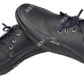 Синие мужские демисезонные туфли (БЛ-13с)
